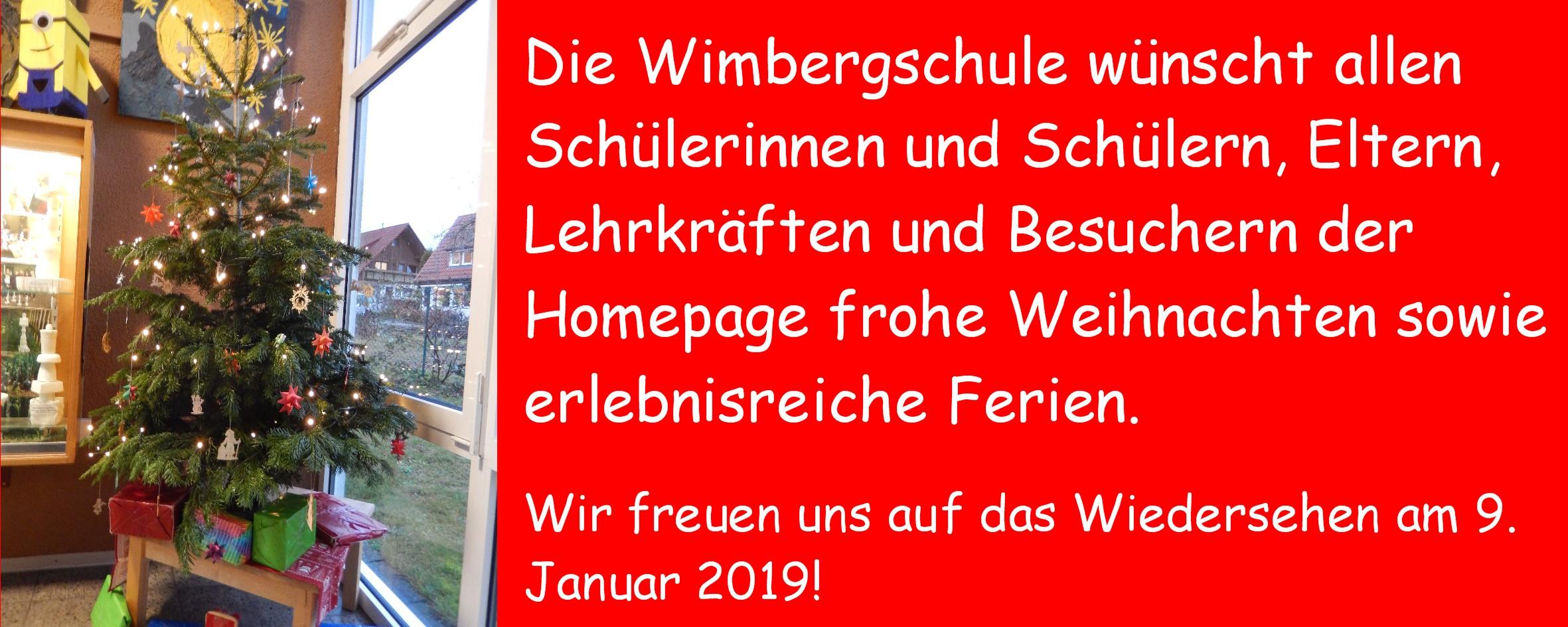 Weihnachtsgrüße An Eltern.Weihnachtsgrüße 2018 Wimbergschulewimbergschule